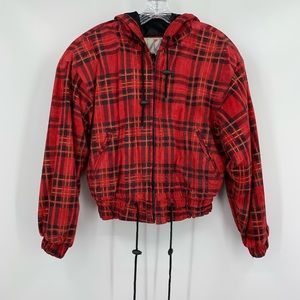 Wilson's Leather Vintage Red Plaid Hooded Jacket